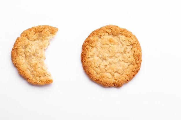 Grupa zbliżenie ciasteczka owsiane