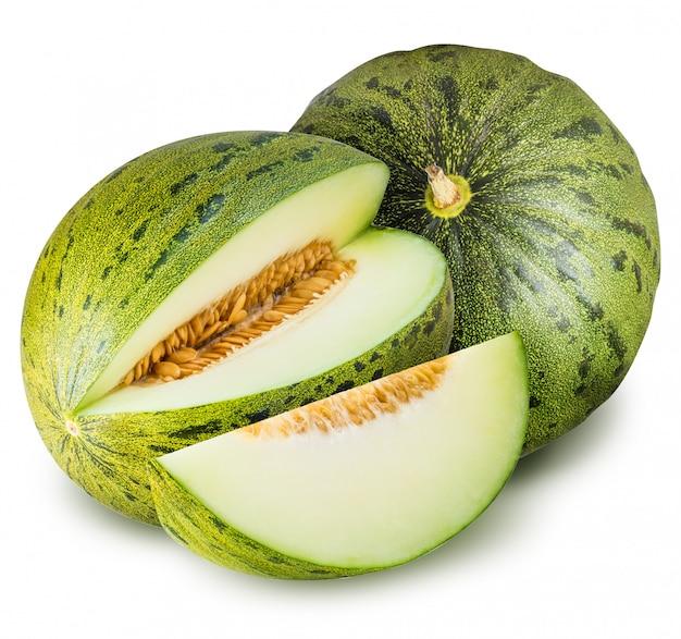 Grupa zieleni melony odizolowywający