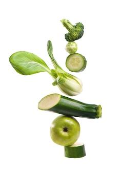 Grupa zielonych warzyw i owoców