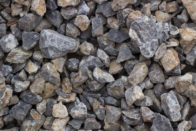 Gruz w stosie tło z ostrych kamieni kamienie do prac budowlanych