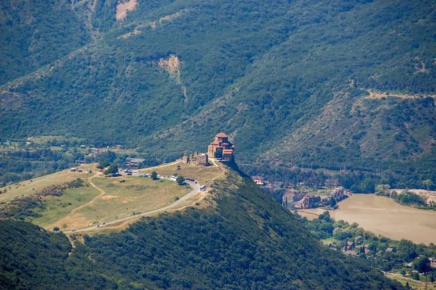 Gruziński prawosławny monaster blisko mccheta, wschodnia gruzja