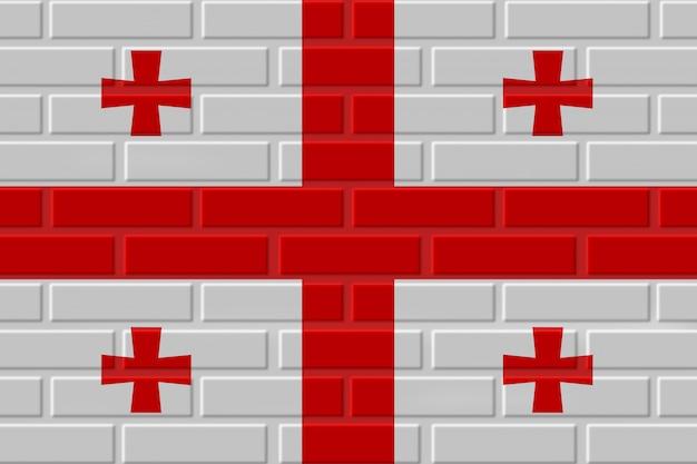 Gruzja ceglana flaga ilustracja