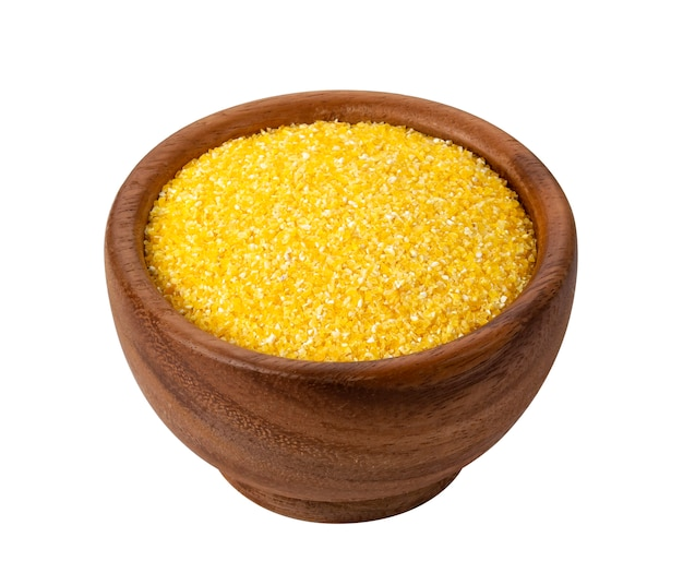 Grys kukurydziany na białym tle