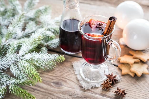 Grzane wino w wigilię bożego narodzenia