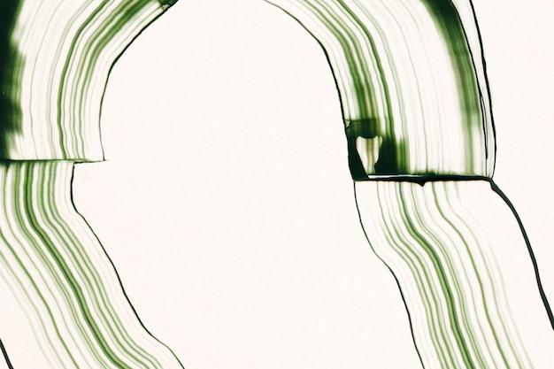 Grzebień malowany teksturowaną ramką w kolorze zielonym diy abstrakcyjny wzór grabiony sztuka eksperymentalna