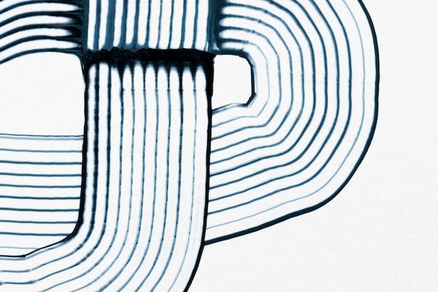 Grzebień malujący teksturowane tło w akrylowym niebieskim ręcznie robionym wzorze minimalna abstrakcyjna sztuka