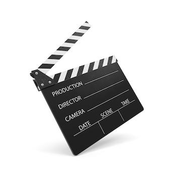 Grzechotka filmu na białym tle