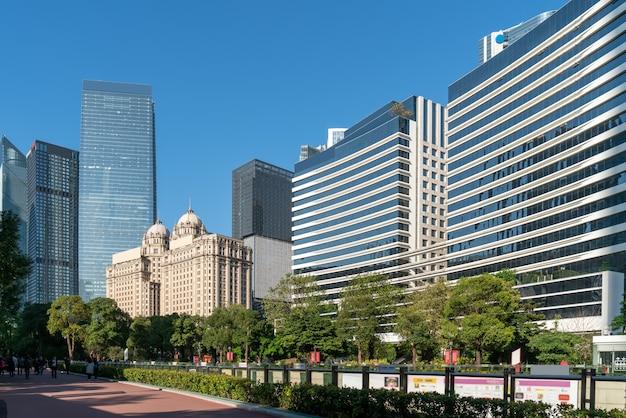 Guangzhou cbd nowoczesny krajobraz architektoniczny