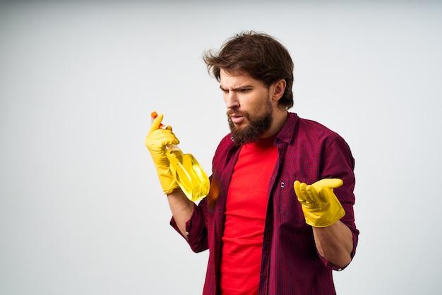 Gumowe rękawice serwisowe z detergentem do czyszczenia