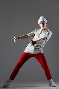 Guy dancing in beanie