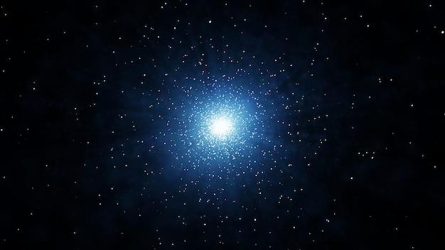 Gwiazda w przestrzeni streszczenie tło