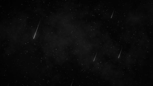 Gwiazdy na nocnym niebie, gwiaździste niebo obracające się wokół ziemi