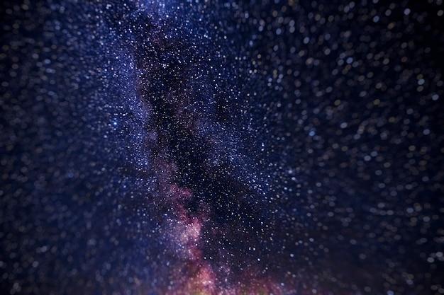 Gwiazdy na nocnym niebie, wszechświat, droga mleczna, hałas