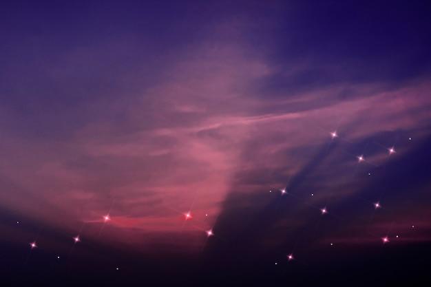Gwiaździste niebo wzór blask obrazu