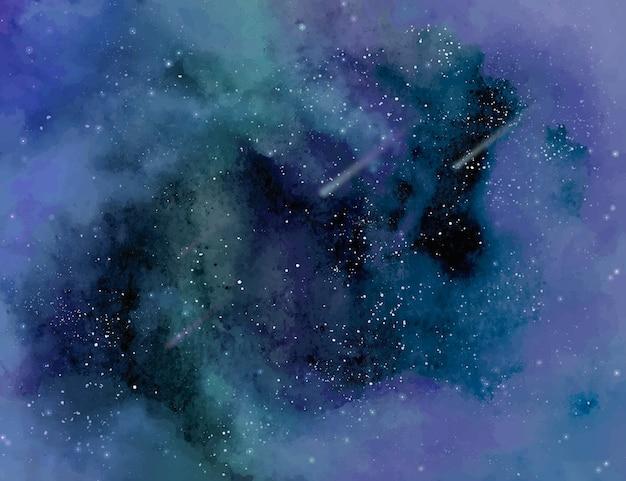 Gwiezdne tło akwarela