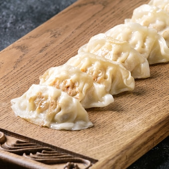 Gyozas potstickers asian pierogi