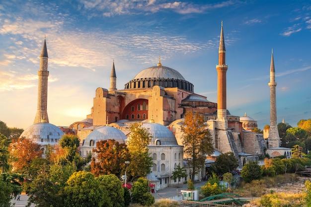 Hagia sophia, słynny punkt orientacyjny w stambule, turcja.