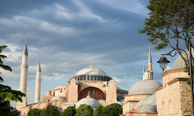 Hagia sophia, sułtan ahmed niebieski meczet, stambuł turcja