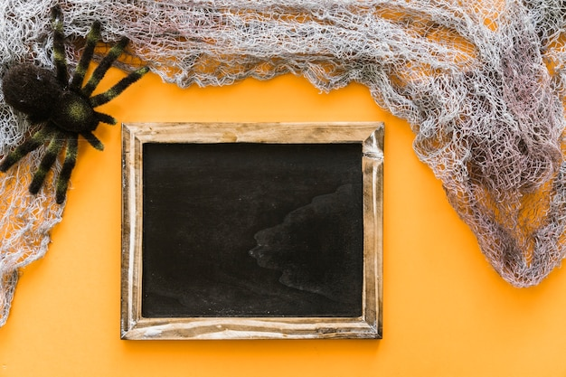 Halloween skład łupkowy z pająk i pajęczyna