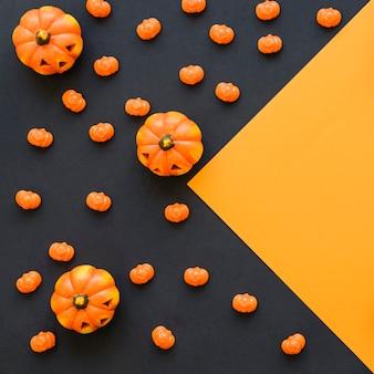 Halloween tła z dynie