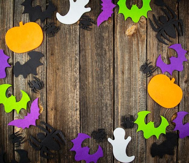 Halloween w tle. płaskie leżał. skopiuj miejsce