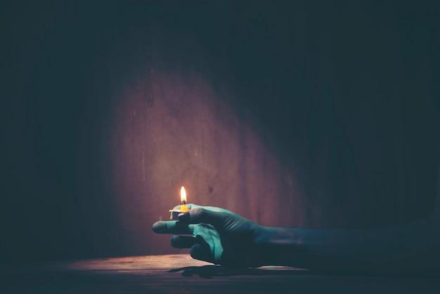 Halloweenowa duch ręka, sztuka obrazek dla halloweenowego pojęcia