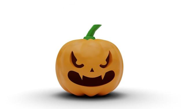 Halloweenowa ilustracja dyni 3d projekt na białym tle