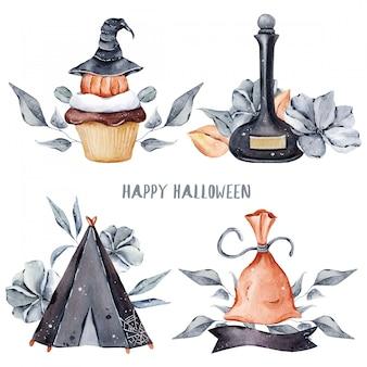 Halloweenowa ilustracja