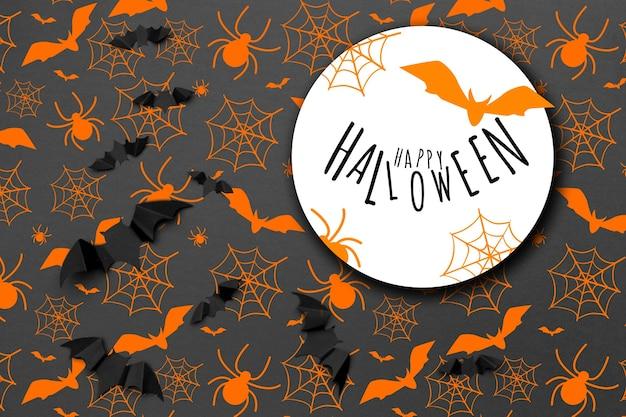 Halloweenowa świąteczna koncepcja tła i dekoracji - latające nietoperze