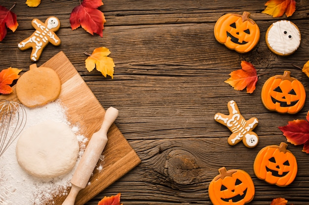 Halloweenowe ciasteczka i ciasto
