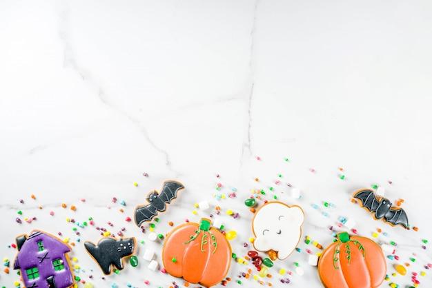 Halloweenowe ciasteczka i cukierki