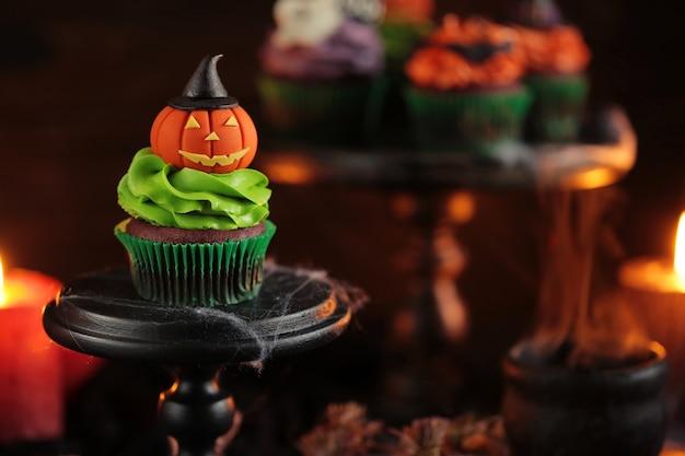 Halloweenowe ciastko z dynią