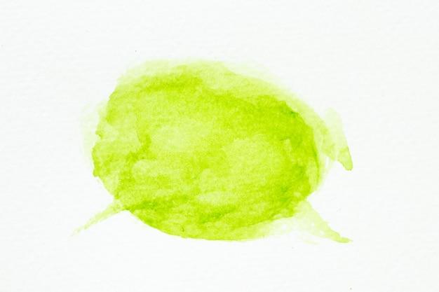 Handdrawing akwarela kolor zielony jako pędzel na białym tle