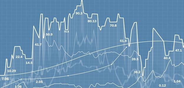 Handel akcjami. wykresy i wykresy. giełda finansowa