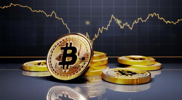 Handel złotymi monetami bitcoin