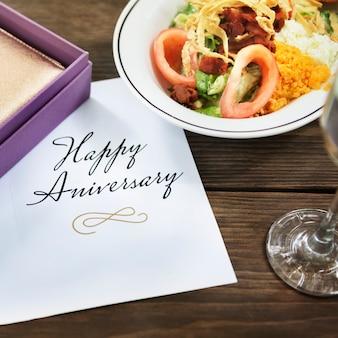 Happy anniversary card gratulacje concept