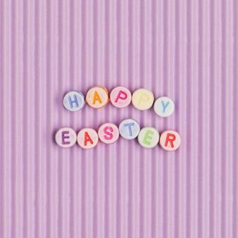 Happy easter napis koraliki słowo