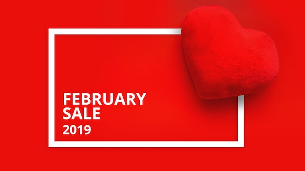 Happy valentines day sale promo web banner