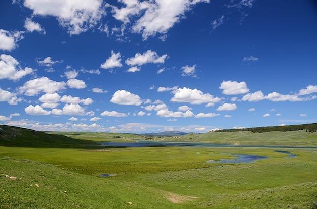 Hayden yellowstone krajobraz doliny