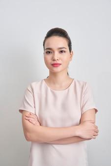 Headshot ślicznej azjatyckiej kobiety zawodowej prawdopodobnie księgowej architekt bizneswoman prawnik prawnik