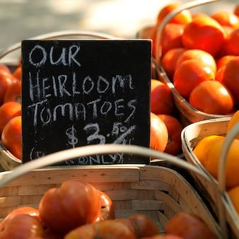 Heirloom pomidory