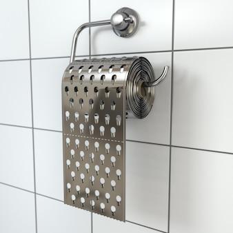 Hemoroidy papier toaletowy jako tarka 3d