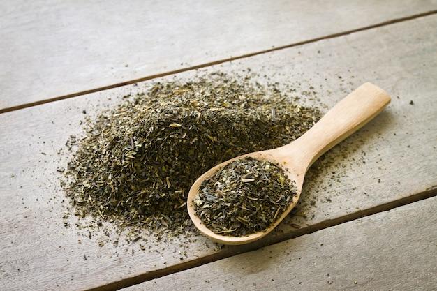 Herbata drewna tle rolnictwa odżywcza