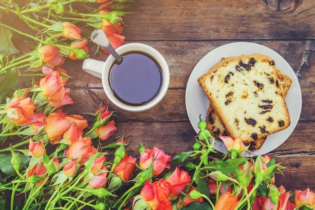 Herbata, herbata róża, róża, selekcyjna ostrość. natura.
