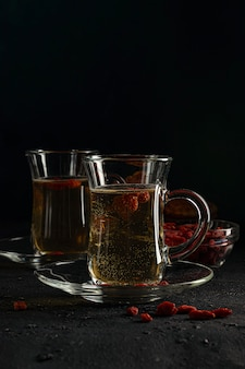 Herbata jagodowa goji, aby znormalizować metabolizm, przeciwutleniacz. pomaga obniżyć poziom cukru we krwi
