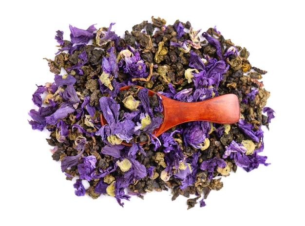 Herbata tie guan yin z kwiatami malwy