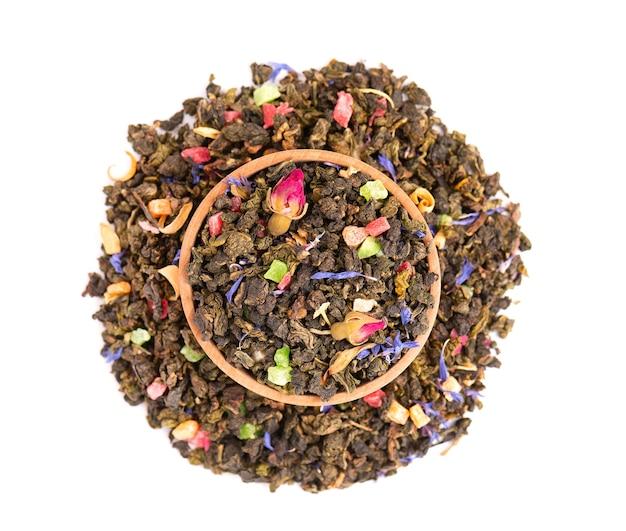 Herbata tie guan yin z pączkami róży
