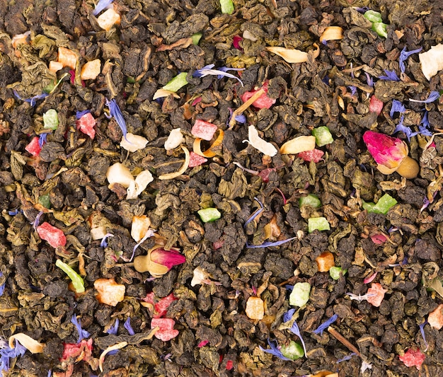 Herbata tie guan yin z pąkami róży