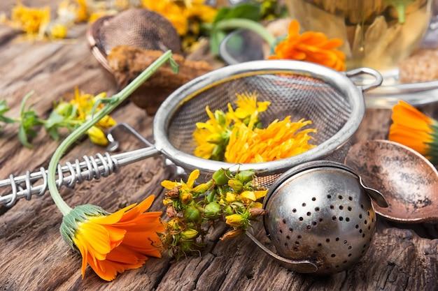 Herbatka ziołowa z nagietkiem