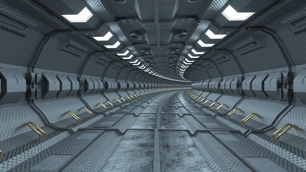 High tech sci fi corridor